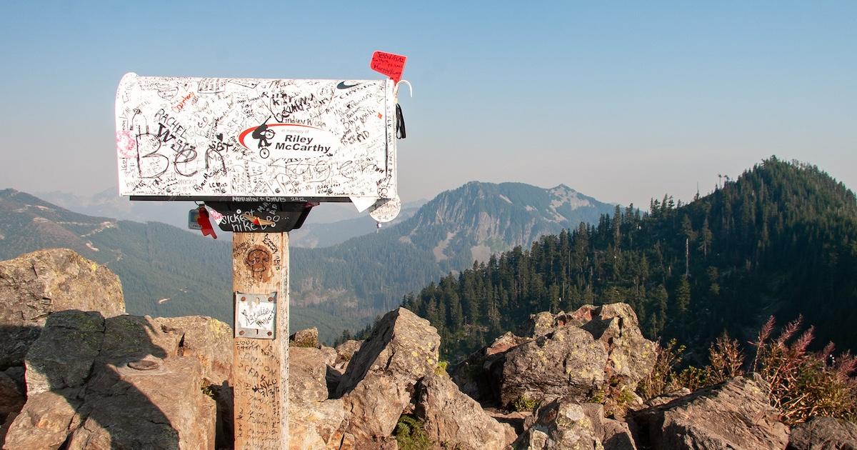 Briefkasten in den Bergen