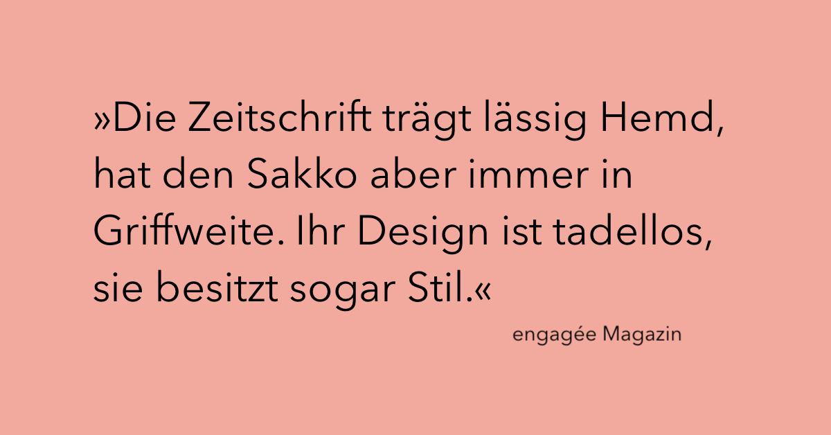 engagée Magazin über agora42