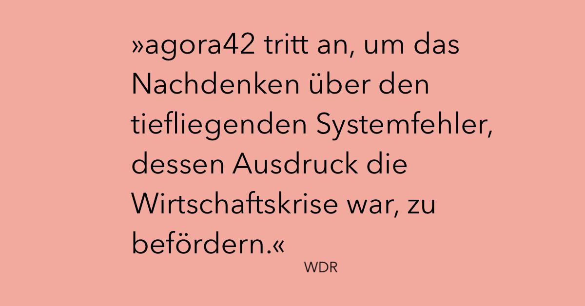 WDR über agora42