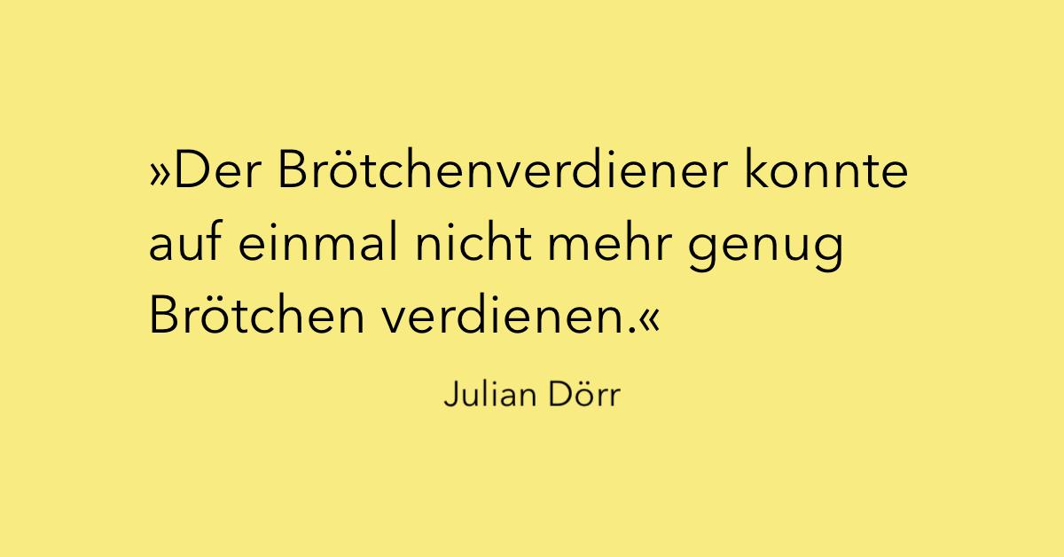 Julian Dörr über Männlichkeit und Kapitalismus