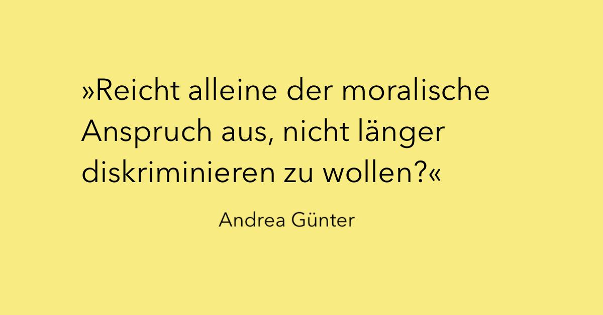 Andrea Günter über Diskriminierung