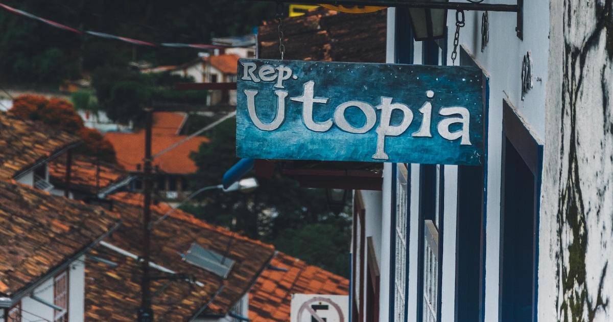 Ladenschild: Utopia