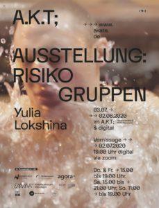 """Plakat der Ausstellung """"Risikogruppen"""""""