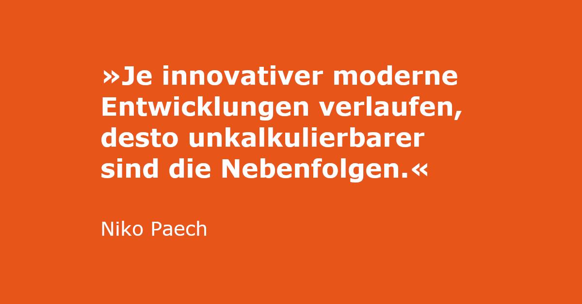 Zitat von Niko Paech