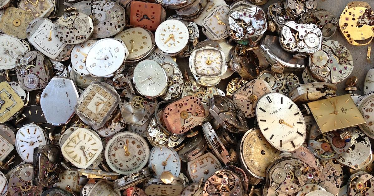Ausrangierte Uhren