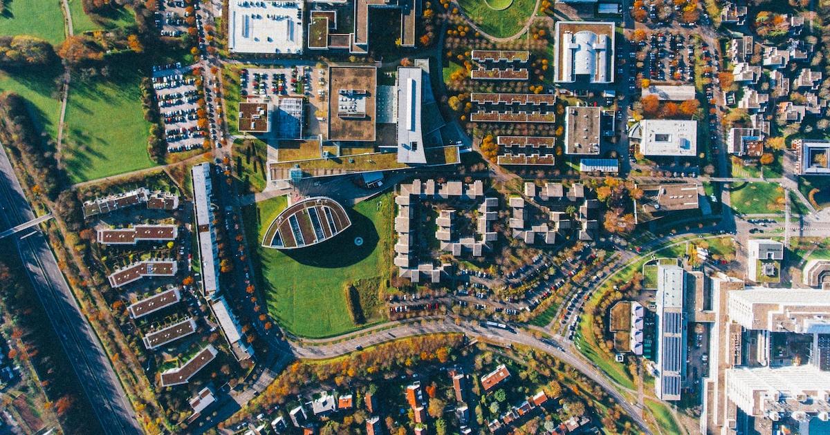 Blick von oben auf Stuttgart