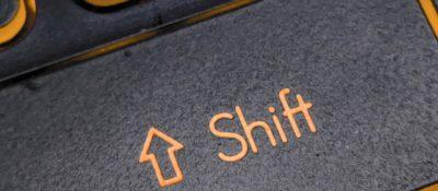 Shift-Taste