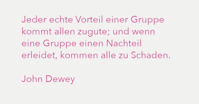 Zitat von John Dewey in Ausgabe 3/2021