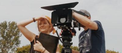 Johanna Jaurich beim Filmdreh